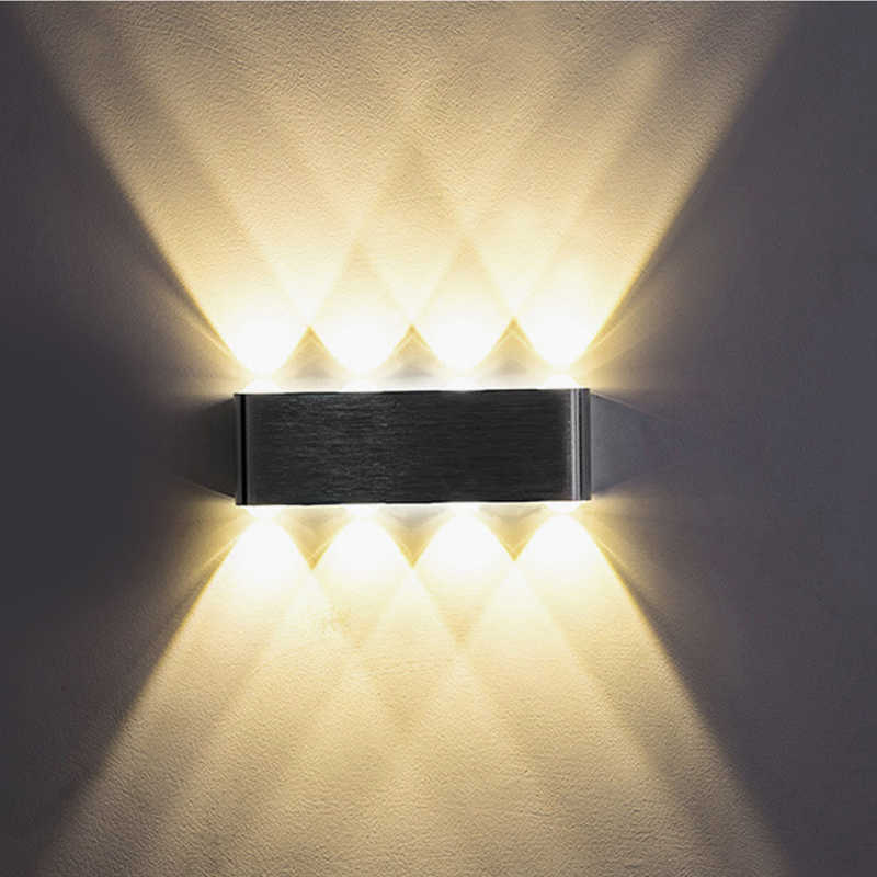 UP and down Indoor 2W 4W 6W 8W LED Wall Lamps AC100V 220V Aluminum Decorate Wall Sconce bedroom LED Wall Light