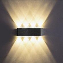 صعودا وهبوطا داخلي 2 واط 4 واط 6 واط 8 واط وحدة إضاءة LED جداريّة مصابيح AC100V 220 فولت الألومنيوم تزيين الجدار الشمعدان نوم وحدة إضاءة LED جداريّة ضوء