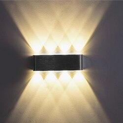 Para CIMA e para baixo Interior 2 W 4 W 6 W 8 W AC100V 220 V Alumínio LEVOU Lâmpadas de Parede Decore arandela quarto Luz CONDUZIDA Da Parede