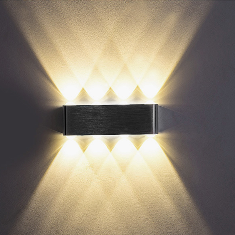 UP and down Indoor 2W 4W 6W 8W LED Wall Lamps AC100V 220V Aluminum Decorate Wall Sconce bedroom LED Wall Light modern led wall light 2w 4w 6w ac85 265v high quality aluminum decorate bedroom reading indoor wall lamp decoration light
