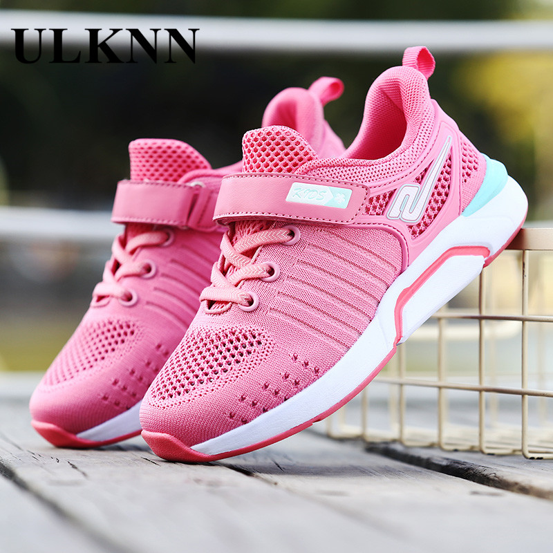 ULKNN Children's Shoes Super Light Running Shoes New Girls Breathable Small Children's Summer Sports Shoes Mesh Soft