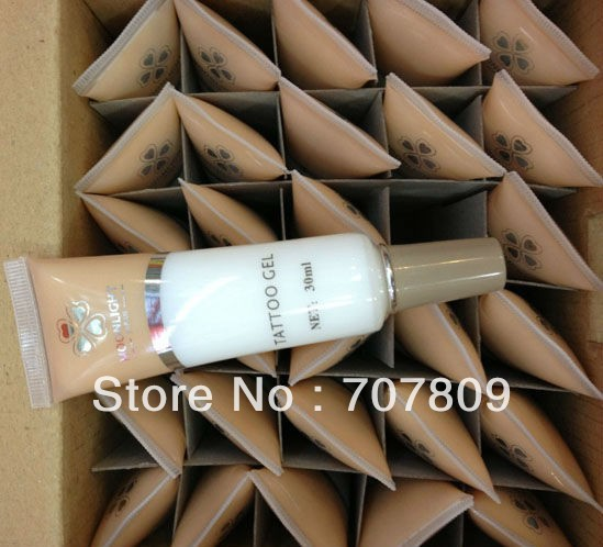 Free Shipping 30pcs white color Glitter Tattoo Glue Gel 30ml bottle for temporary tattoos Kit