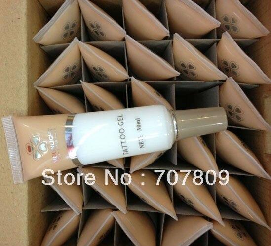 Freies Verschiffen 30 stücke weiße farbe Glitter Tattoo Kleber Gel (30 ml/flasche) für temporäre tattoos Kit