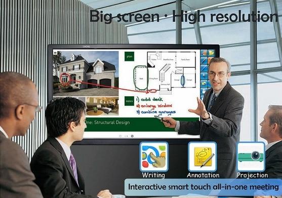 22 32 42 46 55 65 70 82 pouces nouveau écran tactile Windows 8 tout en un pc tv pour le bureau d'éducation scolaire