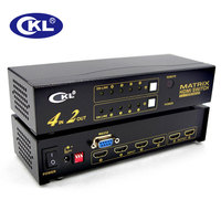 4x2 HDMI Switch Splitter 4 In 2 Out With IR Remote RS232 Control Support 1080P 3D