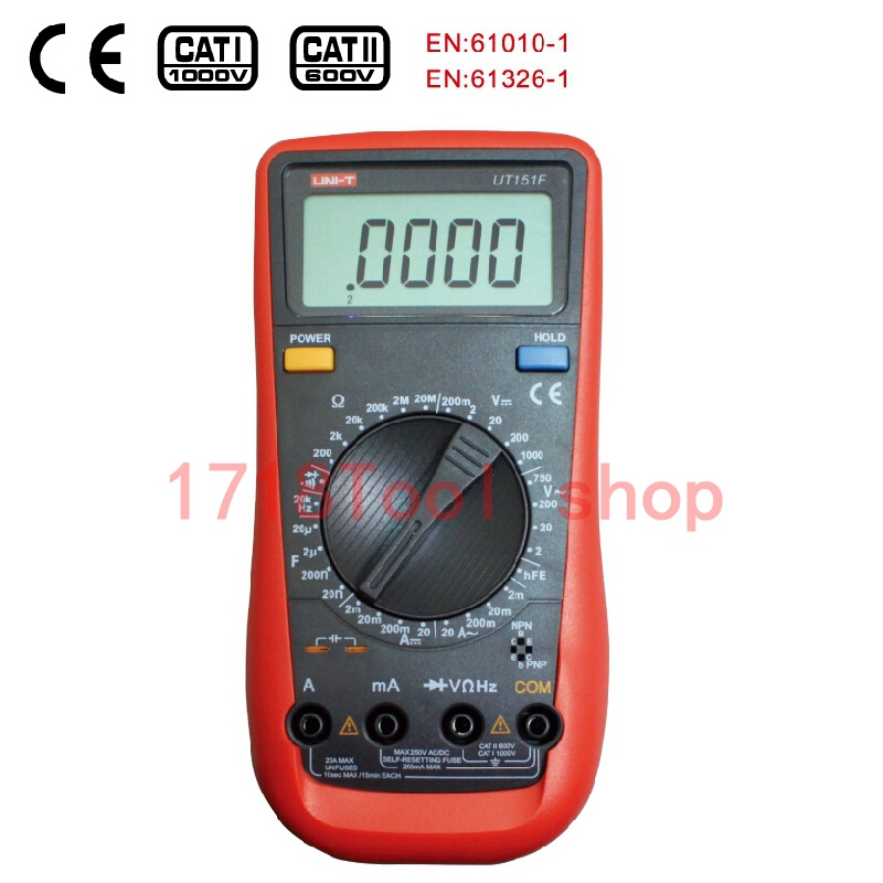 UNI-T UT151F High Reliability Handheld Digital Multimeter Professional Electrical Handheld Tester LCR Meter