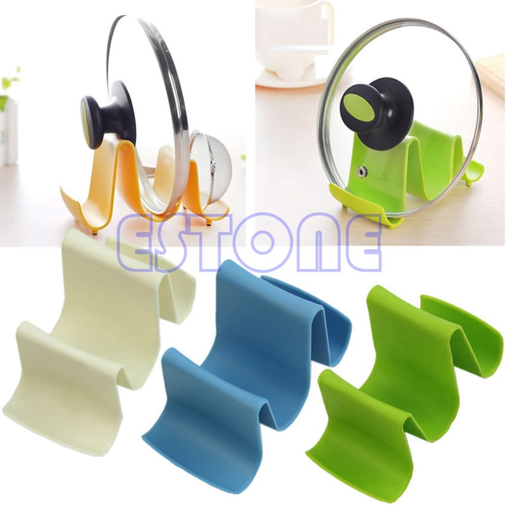 Wave Style Pan Pot Cover Spoon Lid Rack Rest Stand Holder Kitchen ...