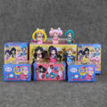 4.5-5cm 6pcs/lot Anime Sailor Moon Figure Toys Q Version Mars Jupiter Venus Mercury PVC Action Model Collectible Dolls