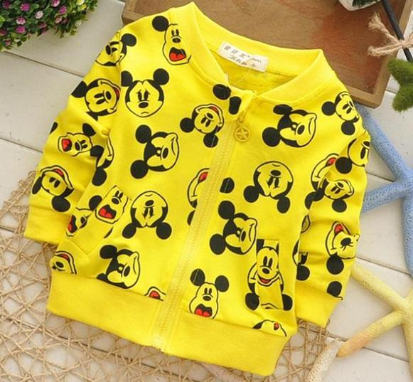 (1piece /lot) 100% cotton 2016 Cute Little mouse baby outerwear