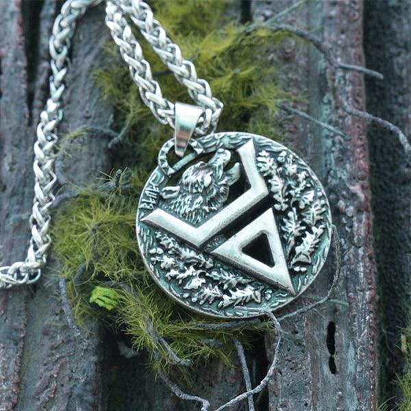 1pcs Viking bear pendant Veles symbol pendant slavic bear talisman pendant pagan men necklace Veles symbol jewelry