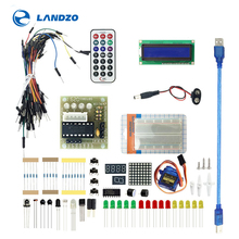 BASIC Kit for UNO R3 Upgraded version Learning Suite With Retail Box : Breadboard sensor 1602 LCD  jumper Wire UNO R3 Resistor