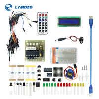 Zestaw podstawowy do ulepszonej wersji UNO R3 zestaw do nauki z opakowanie detaliczne: czujnik Breadboard 1602 kabel mostkujący LCD rezystor UNO R3