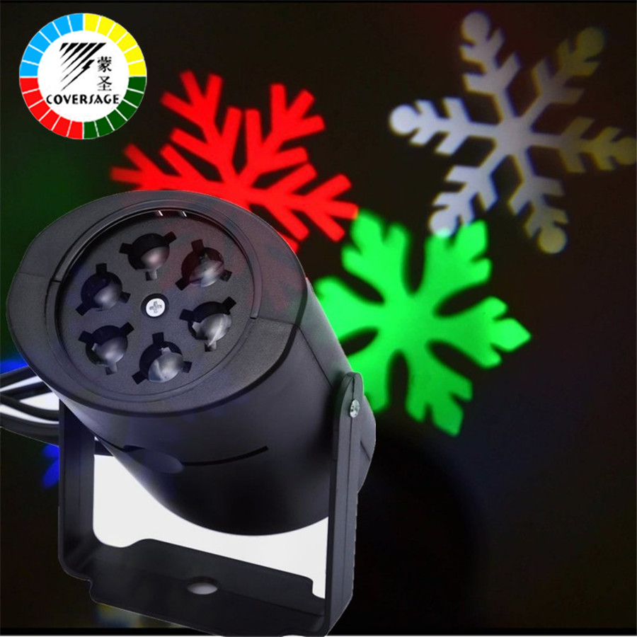 Coversage Laser Christmas Snowflakes LED Stage 2 Pcs Outdoor Lights Holiday  Snow Landscape Projector Lawn Garden