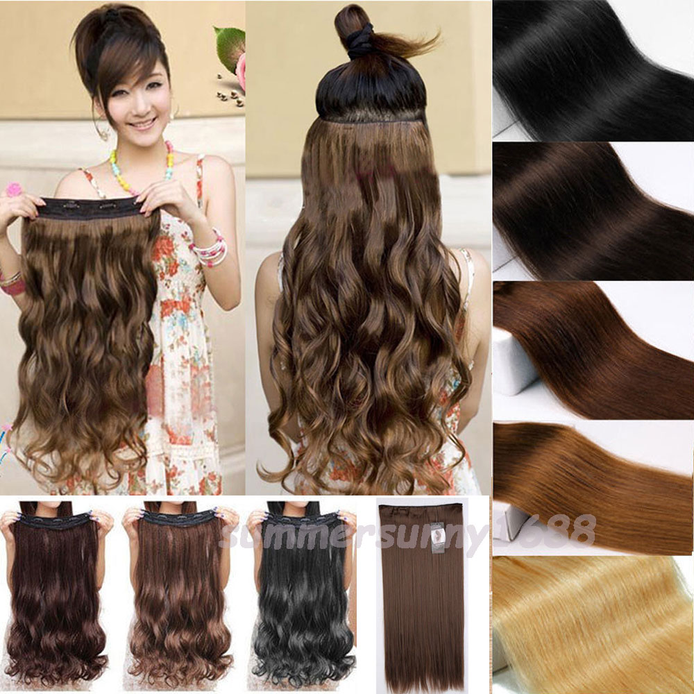 Long 18 28 inches clip in hair extensions half full head one long 18 28 inches clip in hair extensions half full head one piece curly wavy real synthetic for human party christmas hair on aliexpress alibaba pmusecretfo Images