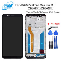 For ASUS ZenFone Max Pro M1 ZB601KL ZB602KL LCD Screen Display+Touch Panel Digitizer With Frame For ASUS ZB602KL Assembly