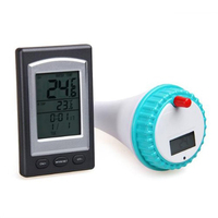Wireless Digital LCD Display Swimming Pool Pond Spa Thermometer Transmitter Receiver High Quality Wholesale
