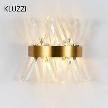 Modern Crystal Wall Sconce Lamp Luxury Gold Wall Light Fixtures Bedside Living Room Bathroom Wall Lamps Dia25 * H30cm