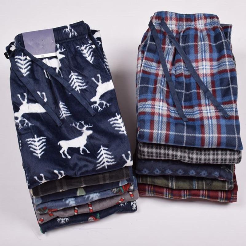 Trousers For Men Winter Double-faced Velvet Pants Men's Lounge Trousers Sleep Bottoms