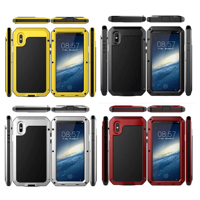 Anti Shock 360 Full Protection Doom Armor Metal Aluminum Phone Cases for iPhone 6 6s 7 8 Plus XS Max XR X 5s SE Heavy Duty Cover(China)