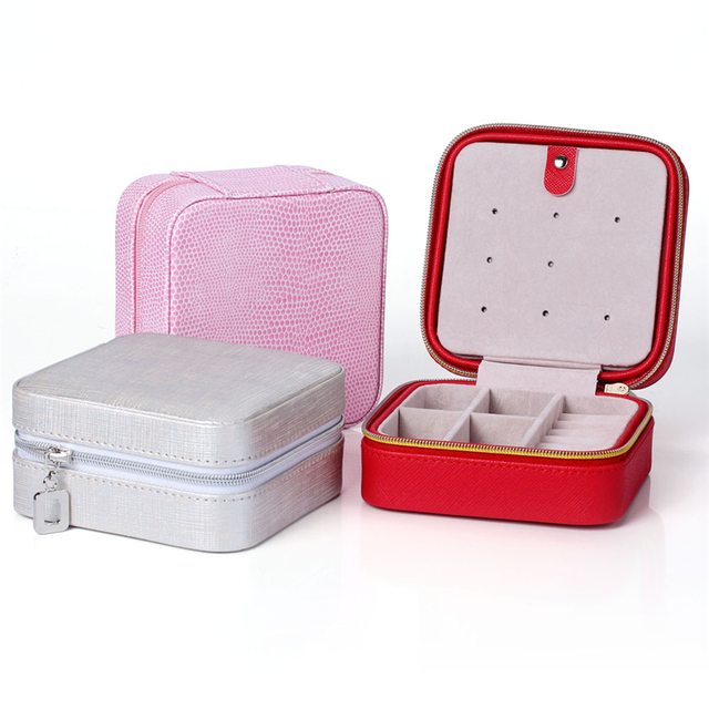 Hot Mini Jewelry Storage PU Leather Casket For Jewelry Travel Case Creative Jewelry Organizer Carrying Box Gifts For Girl Women