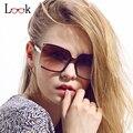 Superior de La Manera 2017 Diseñador de la Marca de La Vendimia Grandes Gafas de Sol Estilo Retro de Gran Tamaño Gafas de Sol de Verano Para Mujeres Lunette de Soleil