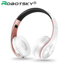 Bluetooth Headphones Wireless Stereo Foldable Headset with Microphone Noise Cancelling Headphone