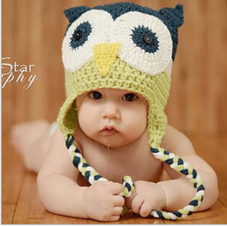 1X Handmake Baby Hat Owls Toddlers Beanie Crochet Knit Woolly Cap Earflap  Hat 4 Colors Unisex Kids Caps EB1136-in Hats   Caps from Mother   Kids on  ... 167ba459428