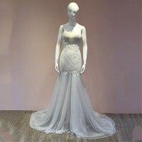 Высокое качество кружева русалка свадебное платье 2018 корсет лиф белый/слоновой кости свадебное платье Индивидуальные Vestidos de Novia плюс Разме