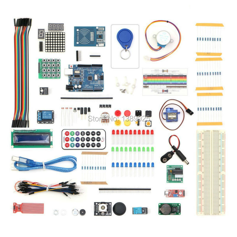 Free Shipping 2017 RFID Starter Kit for UNO R3 Upgraded Version Learning Suite Kit With touch