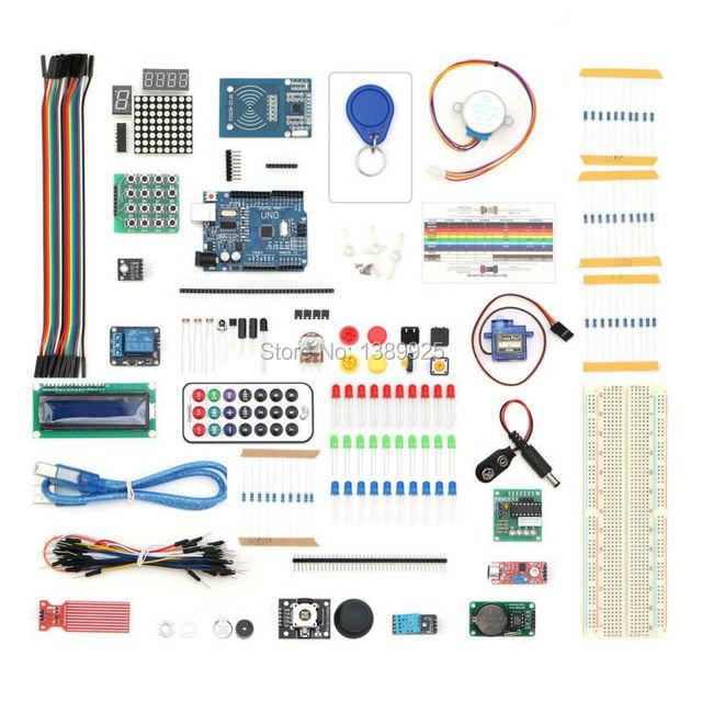 O Envio gratuito de 2016 Versão Atualizada do Starter Kit para Arduino UNO R3 RFID Learning Suite Kit Com módulo de toque de presente