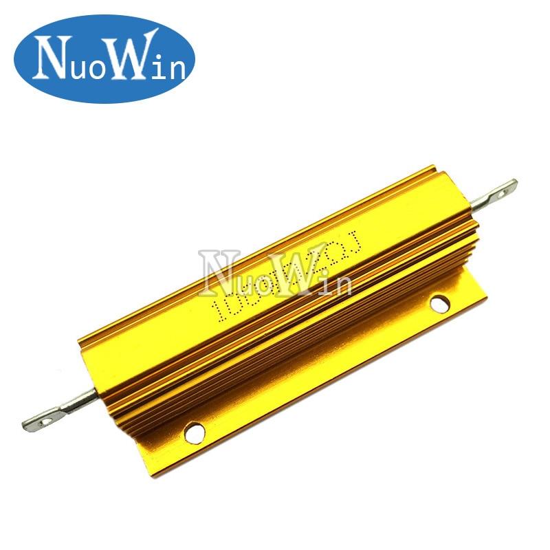 US Stock 2pcs 1K ohm 1K 100W Watt Aluminum Housed Metal Case Wirewound Resistors