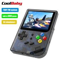 3 pouces jeux vidéo Portable rétro console rétro jeu jeux de poche Console lecteur 16G + 32G 3000 jeux Tony system