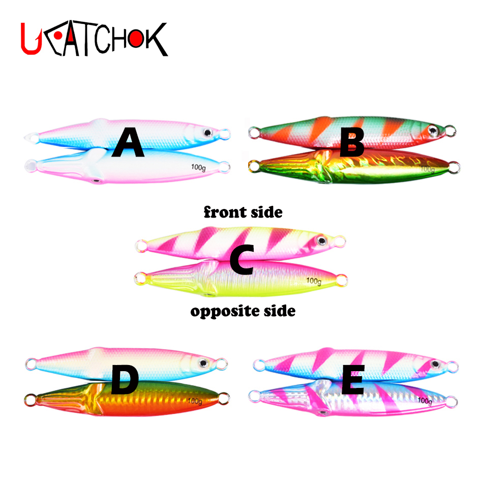 1PCS Luminou Metal Fishing Lure 40g60g80g100g Lead Fishing Baits Metal Jigging Fishing Lure Artificial Hard Bait Fishing Tackle in Fishing Lures from Sports Entertainment
