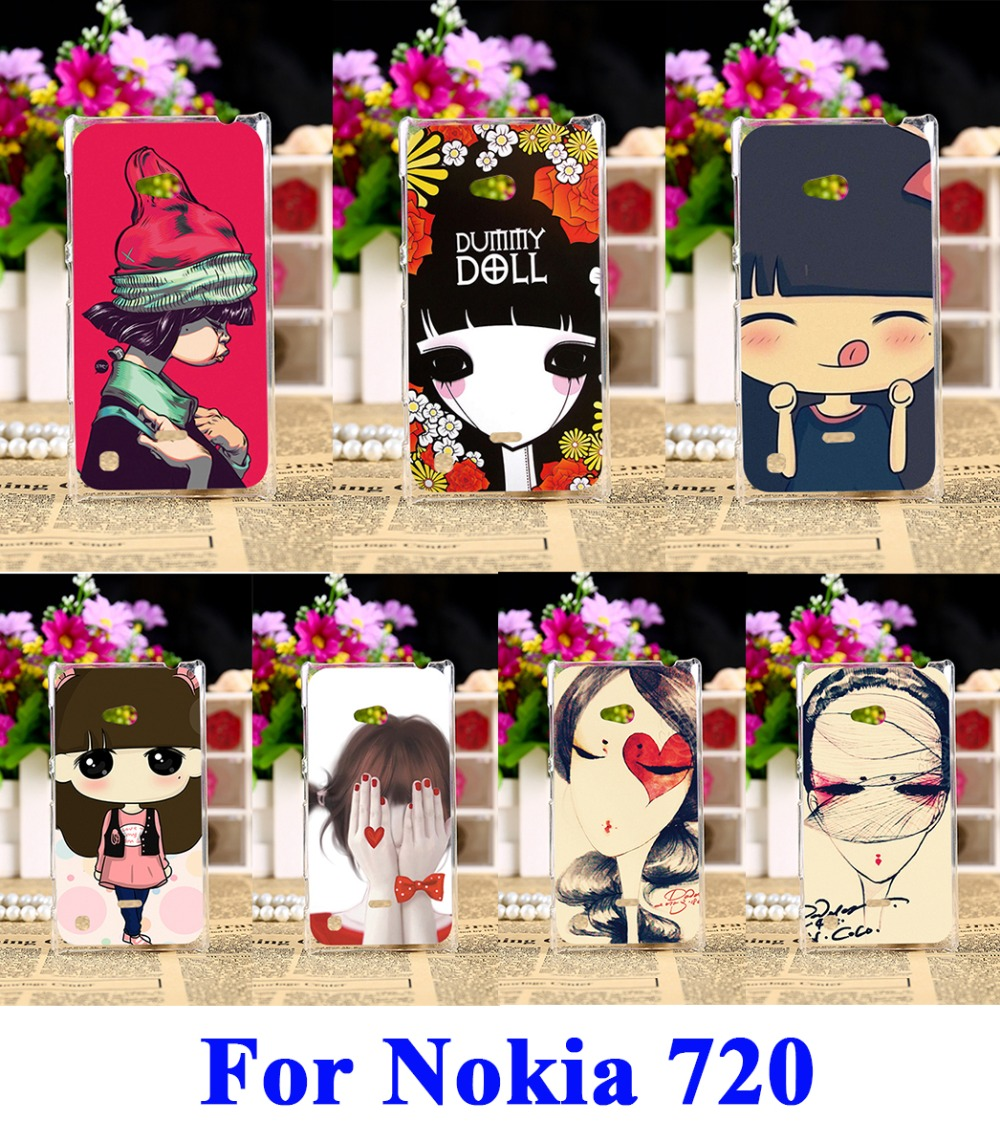 AKABEILA Hard Plastic Mobile Phone Cases For Nokia Lumia 720 N720 N720T 929 Cover Puppet doll  New Lovely Ghost baby Phone Bags