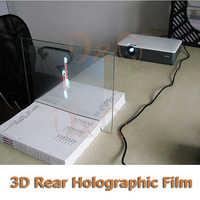 3D di Proiezione Olografica Pellicola Schermo di Proiezione Posteriore Adesivo A4 Formato 1 Pezzo