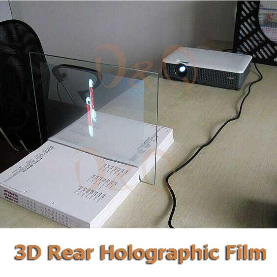 3D голографическая проекционная пленка клея обратной проекции Экран A4 Размеры 1 шт