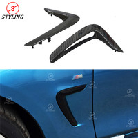 For BMW F32 F33 F36 Carbon Fiber Fender Light Trim For BMW 4 Series F32 F33