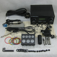 Complete Tattoo Kit Set Tattoo Gun Power Supply Needle Grip Tip Combo Kit Set Supply TKS112#