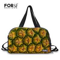 FORUDESIGNS Women Travel Luggage Duffle Bag Teen Girls Multifunctional Travel Bags Pineapple Fruit Pattern Female Weekend Bags