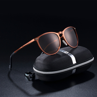 BARCUR Retro Aluminum Magnesium Men Sunglasses Polarized Vintage Round Sun Glasses Women Eyewear Accessories Oculos de sol