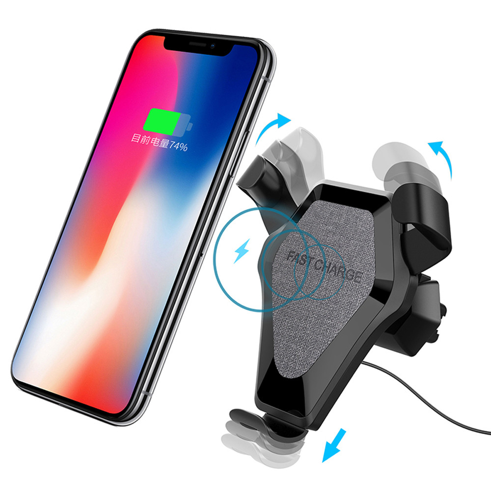 Car Mount Holder Qi Wireless Charger Fast Wireless