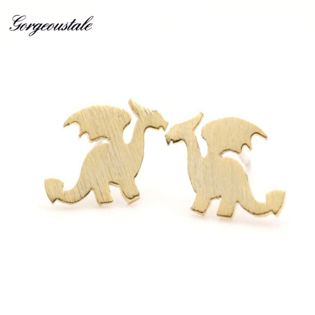 US $1.46 19% OFF|Aliexpress.com : Buy Cute Animal Dragon Stud Earrings  Women Gold Color Stainless Steel Causal Wear Brincos Fashion Jewelry  Christmas ...