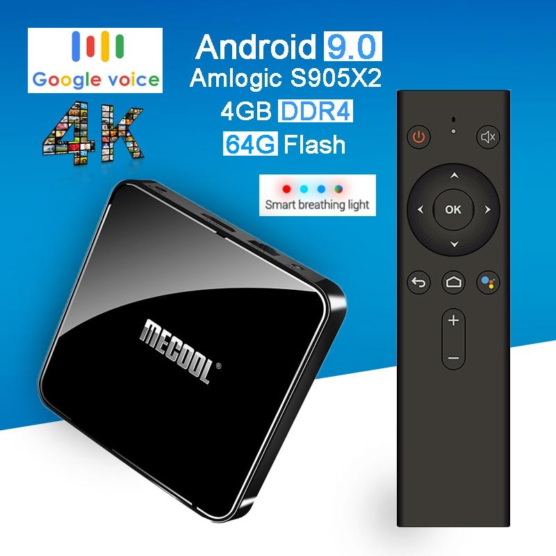 Mecool KM3 ATV Android 9 0 Smart TV Box Amlogic S905x2 Quad Core DDR4 4g 64g