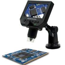 G600 цифровой портативный 1-600X 3.6MP микроскоп непрерывное Лупа с 4.3 дюймов HD ЖК-дисплей EU/US/UK адаптер