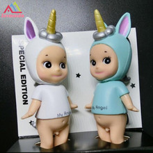 2pcs/set Sonny Angel Party Series Christmas Gifts Cute Seabed Animals Unicorn Dolls Action Figure Model Toys For Children DBP265 цены