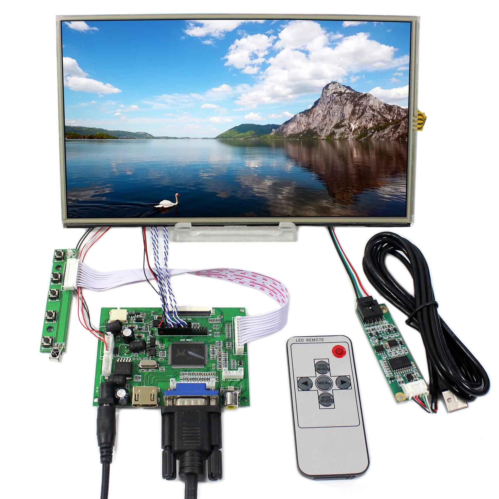 HDMI VGA 2AV LCD Controller Board 10.1inch B101XAN01 1366x768 Touch LCD Screen vga hdmi lcd controller board for lp156whu tpb1 lp156whu tpa1 lp156whu tpbh lp156whu tpd1 15 6 inch edp 30 pins 1 lane 1366x768