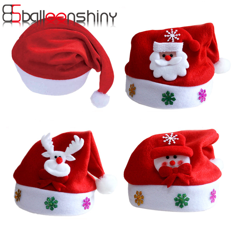 BalleenShiny Hat Baby Christmas Santa Claus Cap Kids Hat Newborn Photography Girls Boy Winter For 2-5 years plush christmas hats christmas holiday xmas cap for santa claus warm hat