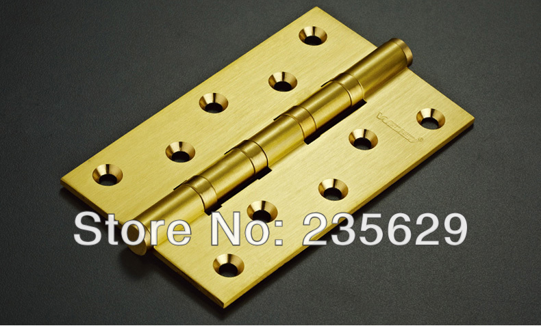 Free Shipping, 6 pcs High Quality brass ball bearing hinge Hinges, 5inch, 3mm thickness, Low Noise, smooth and quite 100pcs lot american face frame cabinet hinges smooth soft close 3 dimension adjustments hinge multiple overlay