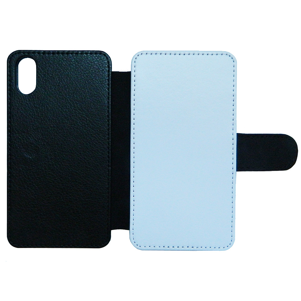 Blank Flip Leather phone case for iPhone 5 6 7 8 plus X XS Max XR