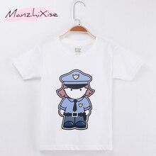 bc5d0abf3 2019 dzieci T-shirt policji Cartoon projekt bawełniana koszulka dziecięca  chłopiec krótkie koszulki dla dzieci ubrania dla dziec.